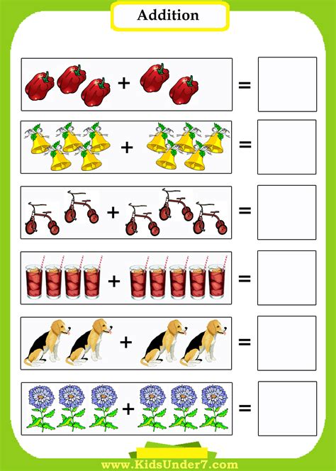 Beginning Math Addition Worksheets  Worksheet Example