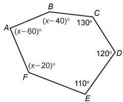 interior angles formed   sides   hexagon