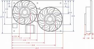 Ford Contour Electric Fan Dimensions