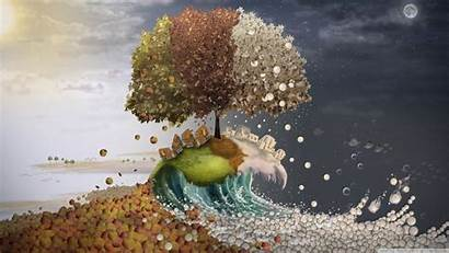 Surreal Seasons Background Desktop 4k Wallpapers Ultra