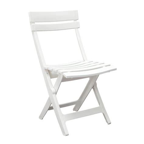 chaise jardin pliante plastique chaise de jardin miami pliante blanc 49036004 achat