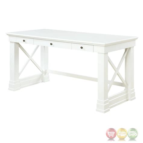 antique white writing desk johansson antique white 3 drawer 60 quot writing desk