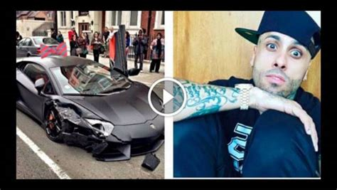 nicky jam sufrio accidente en su lamborghini enterate de