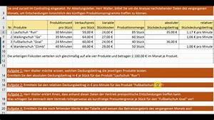 Optimales Produktionsprogramm Berechnen : klr optimales produktionsprogramm youtube ~ Themetempest.com Abrechnung