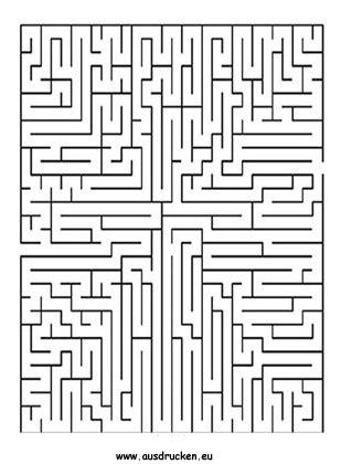 labyrinth ausdrucken
