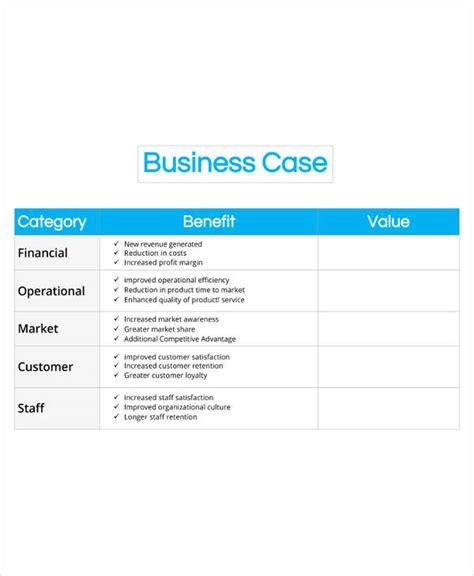 13 business case templates pdf doc free premium