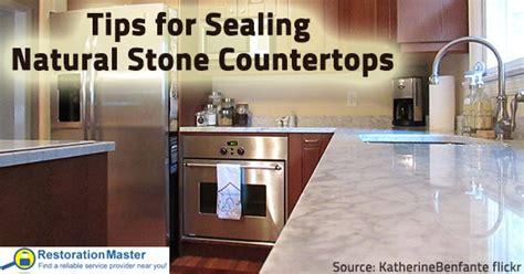 tips  sealing natural stone countertops
