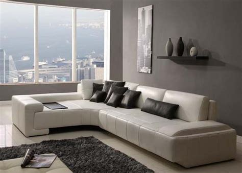 modern living rooms  leather sofa designs