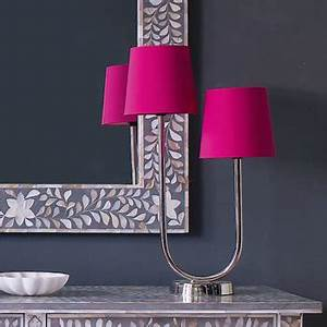 Hot pink bedside lamp features lamp hot pink polka dot for Fuschia pink floor lamp