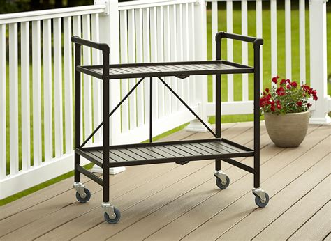cosco products smartfold folding serving cart