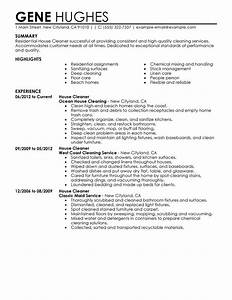 example of resume for cleaning job samplebusinessresume With free housekeeping resume