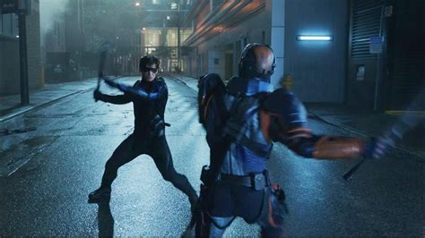 deathstroke  nightwing  ravager fight scene titans