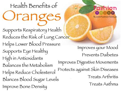 Health Advantages Of Eating Oranges