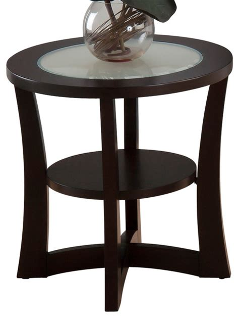 frosted glass end table jofran 347 3 end table with shelf and frosted glass insert