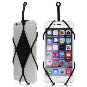 cell phone holder silicone lanyard cover skin holder necklace for