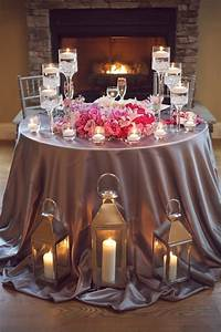 Glamorous Pink And Grey Candlelit Tablescape Elizabeth