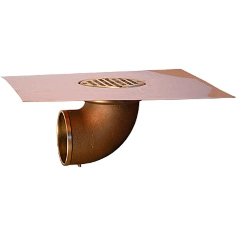 thunderbird copper deck drains thunderbird copper balcony deck drain with 4 quot bowl and 90