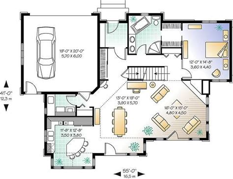 Country House Plan with 4 Bedrooms and 2 5 Baths Plan