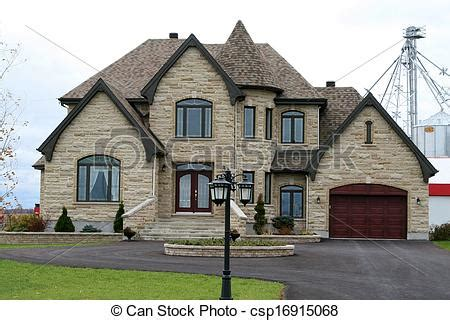 style home plans with courtyard stock image of executive house with turret