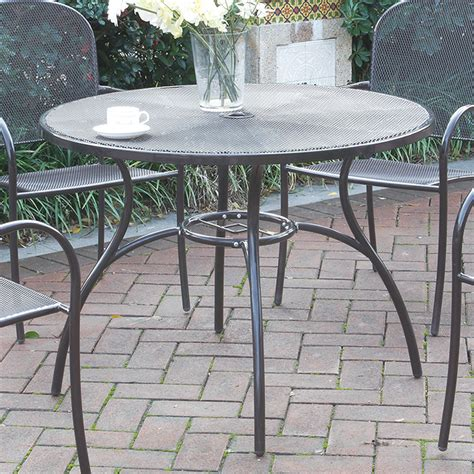 casual outdoor patio garden yard dining table mesh