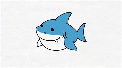 baby shark cartoon drawing pictandpictureorg