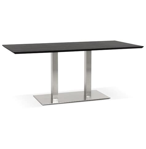 table bureau design table de réunion mambo noir 180x90 cm bureau design