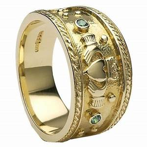 mens gold claddagh ring mg clad32 With claddagh wedding rings for men