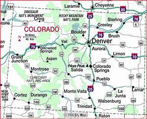Highway Map of Colorado - Aaccessmaps.com
