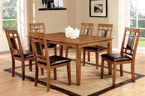 freeman  light oak  piece dining room set  furniture