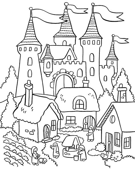Coloring Home by Garden Coloring Pages To And Print For Free