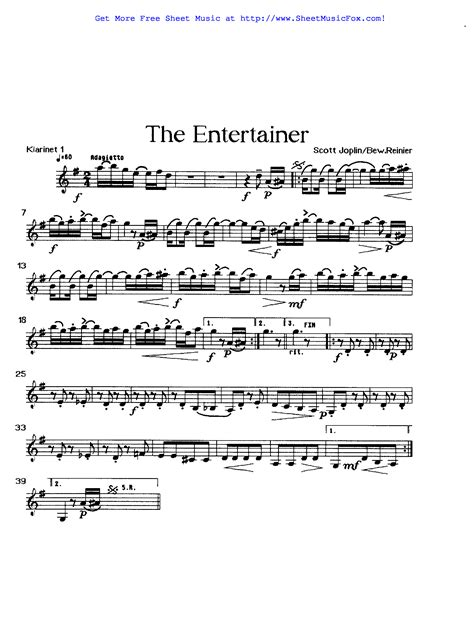 The first recording was by blues and ragtime musicians the blue boys in 1928, played on mandolin and guitar. Free sheet music for The Entertainer (Joplin, Scott) by Scott Joplin