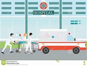 Ambulance Emergency Medical Evacuation Accident. Stock ...