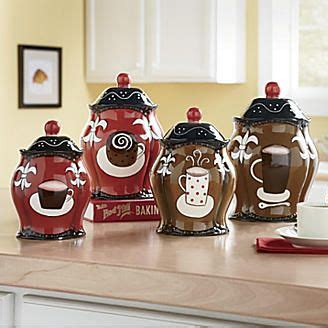 coffee themed kitchen canisters canisters coffee set of 4 from seventh avenue 174 for the