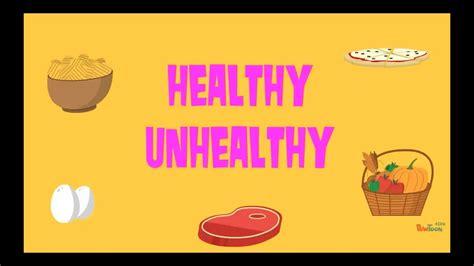 healthy unhealthy food quiz youtube