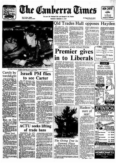 Times Past: December 15, 1987 | The Canberra Times ...