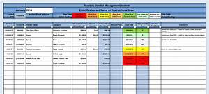 invoice tracking template excel invoice example With vendor management excel template