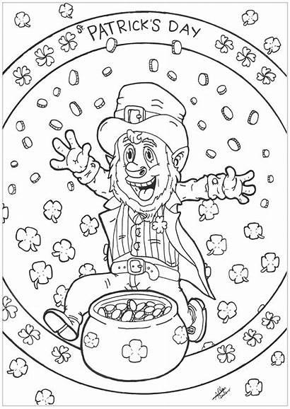 Patrick Coloring St Patricks Pages Leprechaun Adult