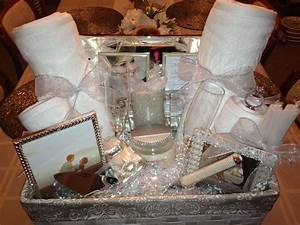 bridal shower gift basket ideas ideasthatsparklecom on With wedding gift basket ideas