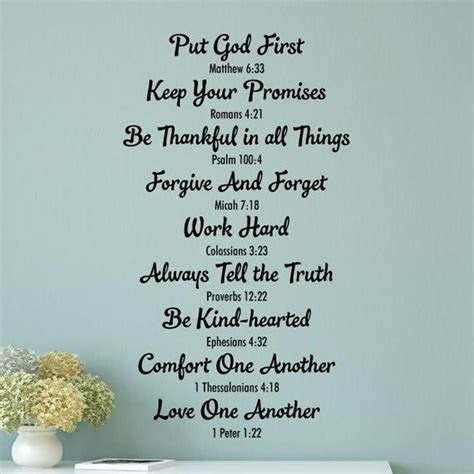 God designed humans to live in families. Wall Quote Decal Bible Family Rules Religious Bible Verse