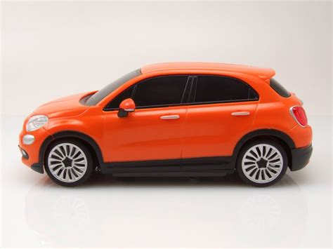 rc fiat   orange mit funkfernbedienung modellauto