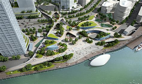 bureau expertise shanghai authorities approve multi level waterfront design
