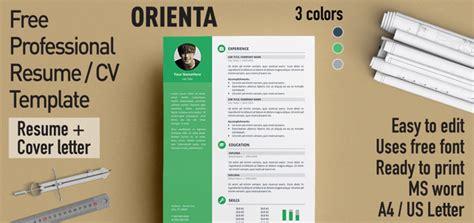 Professional Resume Cv by Orienta Free Professional Resume Cv Template