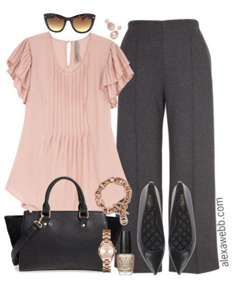 Plus Size Rose Gold Work Outfit | Gold work Work outfits and Gold