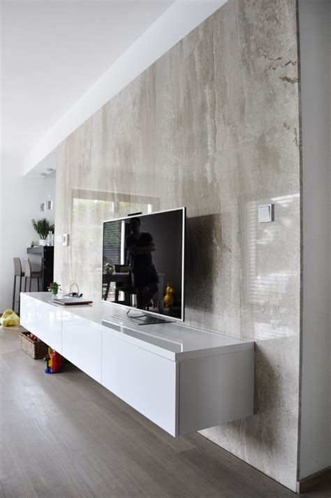 Tv Paneel Wand by Tv Wall Marble Panels Led Light Integrated Moad