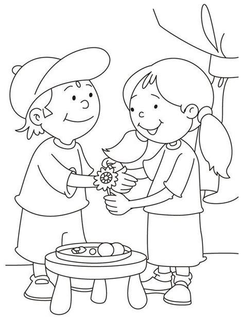 raksha bandhan drawing coloring pages pictures