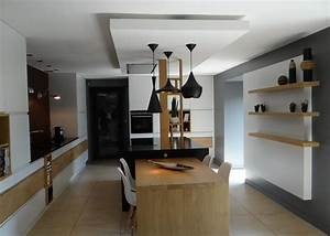 le faux plafonds souligne la partie centrale un amour de With faux plafond cuisine ouverte