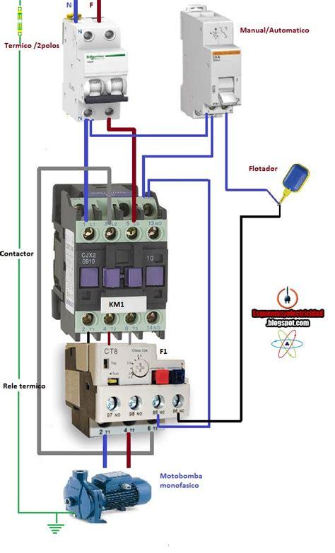 esquemas electricos arranque motobomba monofasica manual