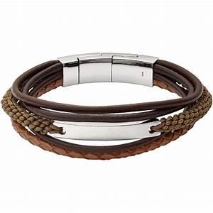 Bracelet Homme Marque Italienne : bracelet fossil bijoux jf02703040 bracelet vintage acier cuir homme sur bijourama r f rence ~ Dode.kayakingforconservation.com Idées de Décoration
