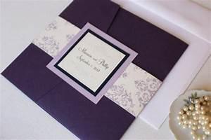 purple pocket fold wedding invitations purple and With buy wedding invitation pocketfold
