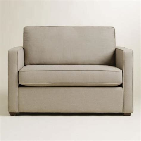 pebble gray chad chair and a half sleeper world market